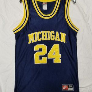 Vtg Michigan Fab 5 Jimmy King Med Nike Authentic